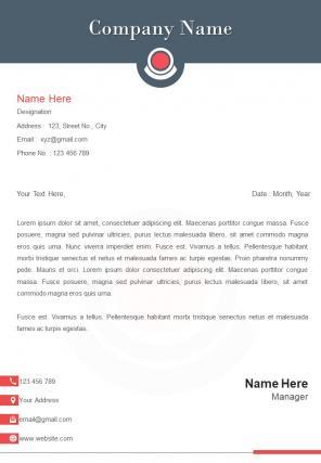 Photography Letterhead Design Template