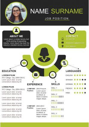 Professional Curriculum Vitae Sample A4 Resume Template