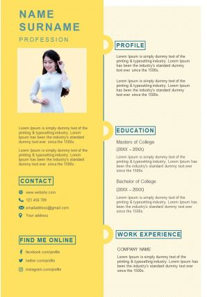 Professional Curriculum Vitae Sample For Job Interview