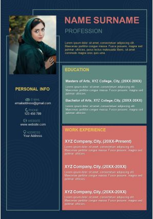 Professional CV Format For Job Interview