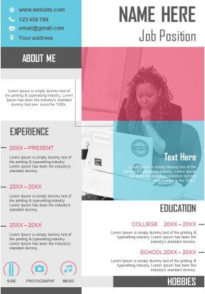 Professional CV Format Resume PPT Design Editable Template