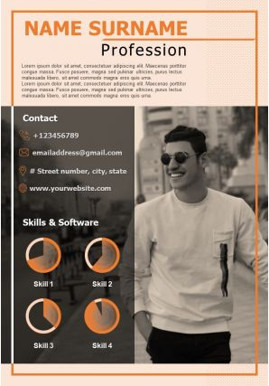 Professional CV Sample Template With Hobbies And References
