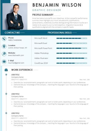 Professional CV Summary Statement Template