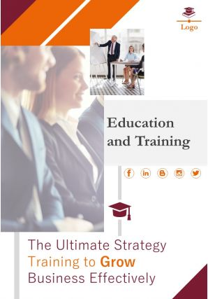 Professional Development And Training School Four Page Brochure Template