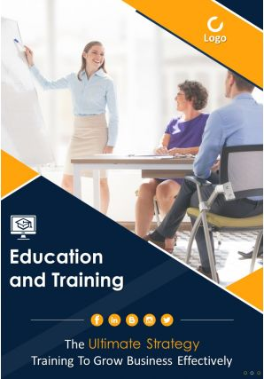 Professional Development Training School Four Page Brochure Template