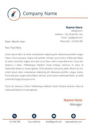 Professional One Page Letterhead Design Template