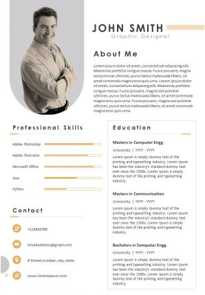 Professional Resume Format With Professional Skills