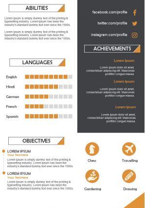 Professional Resume Illustration CV Design Template