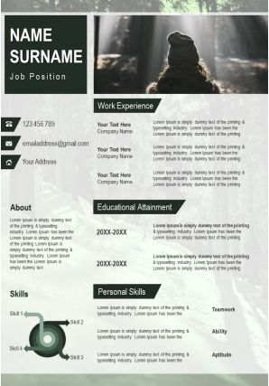 Professional Resume Illustration With Unique Graphics