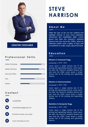 Professional Resume Personal Statement Format