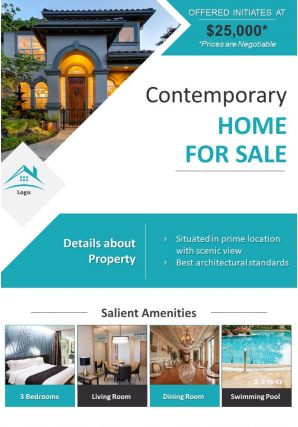 Property For Sale Two Page Brochure Flyer Template