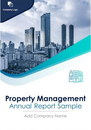 Property Management Annual Report Sample PDF DOC PPT Document Report Template