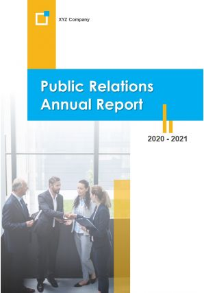 Public Relations Annual Report PDF DOC PPT Document Report Template