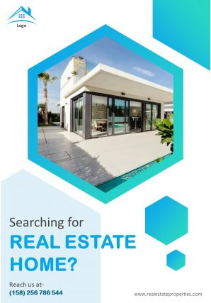 Real Estate For Sale Four Page Brochure Template