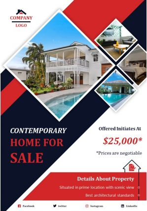 Real Estate Marketing Two Page Brochure Template