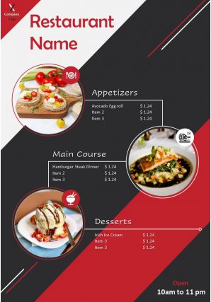 Restaurant Brochure Two Page Flyer Template