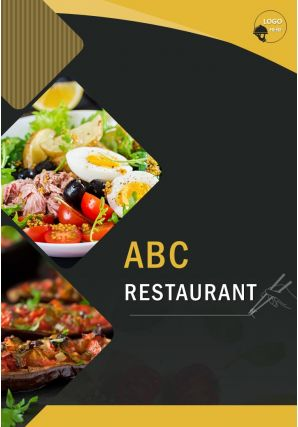 Restaurant Food Menu Four Page Brochure Template