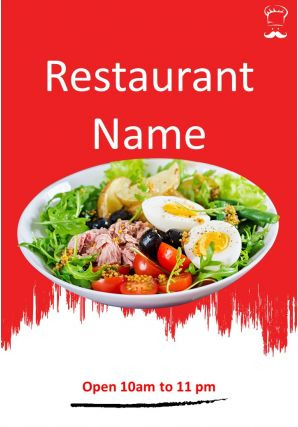 Restaurant Menu Two Page Brochure Template