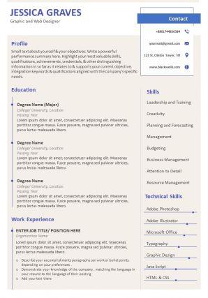 Resume Bio Data Format With Job History