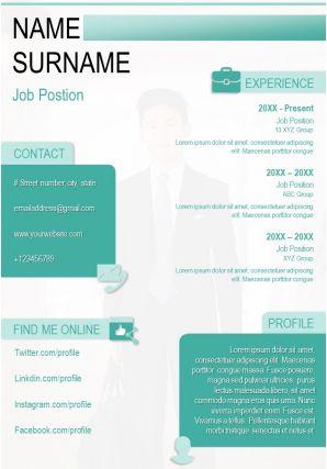 Resume Template Professional Curriculum Vitae Sample Design