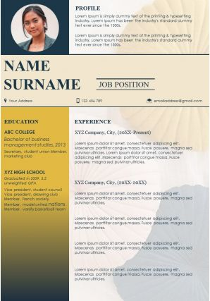 Resume Template With Personal Profile Summary