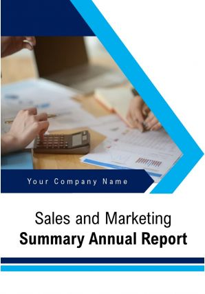 Sales And Marketing Summary Annual Report PDF DOC PPT Document Report Template