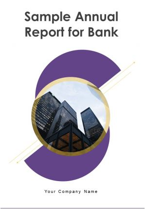 Sample Annual Report For Bank PDF DOC PPT Document Report Template