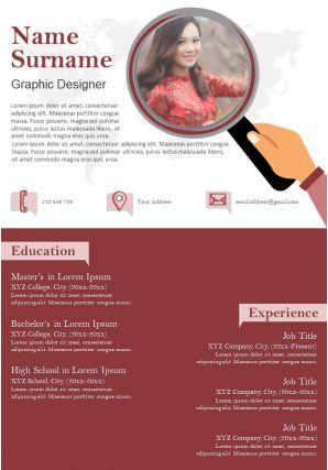 Sample Format Of Graphic Designer