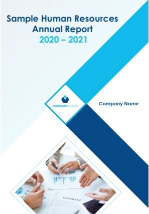 Sample Human Resources Annual Report PDF DOC PPT Document Report Template