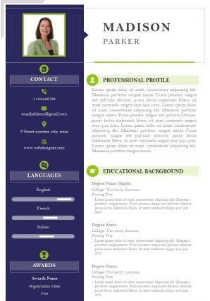 Self Introduction Example Curriculum Vitae For Job Search