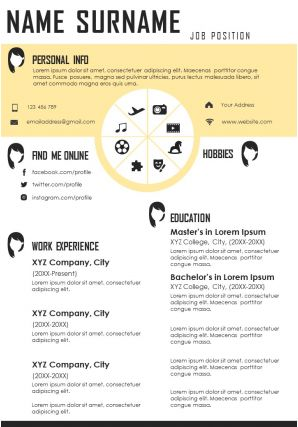 Self Introduction Sample CV Design For Job Search