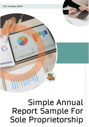 Simple Annual Report Sample For Sole Proprietorship PDF DOC PPT Document Report Template