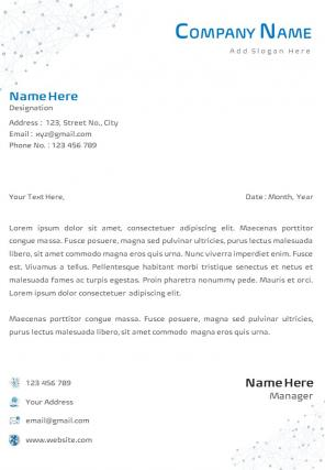 Single Page IT And Software Format Letterhead Design Template