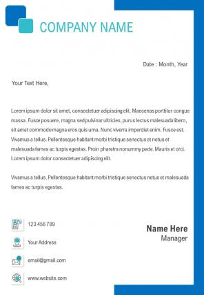 Single Page Management Letterhead Design Template