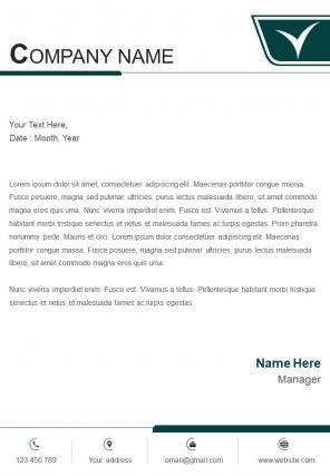 Single Page Retail Business Letterhead Design Template