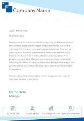 Single Page Software Company Letterhead Design Template