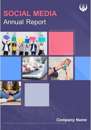 Social Media Annual Report Template PDF DOC PPT Document Report Template