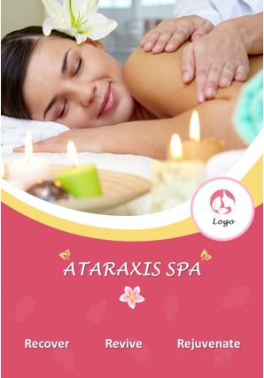 Spa And Wellness Four Page Brochure Template