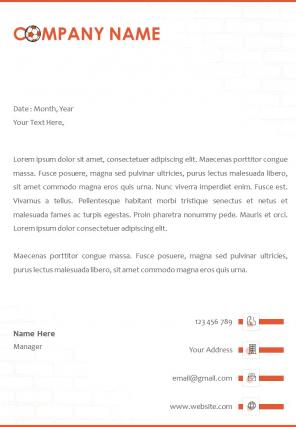 Sports Letterhead Design Template