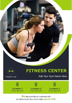 Strength Workout Training Two Page Brochure Template