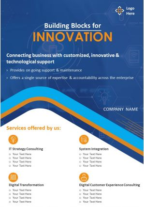 Tech Consulting Firm Two Page Brochure Template