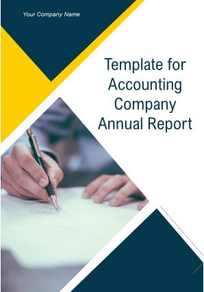 Template For Accounting Company Annual Report PDF DOC PPT Document Report Template