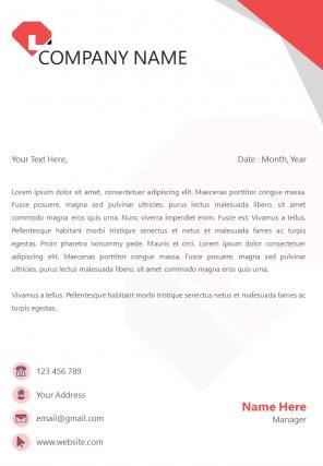 Trading Company Letterhead Design Template