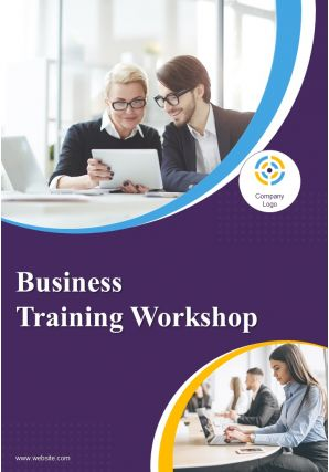 Training And Performance Improvement Two Page Brochure Template