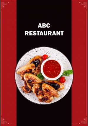 Trendy Restaurant Menu Four Page Brochure Template