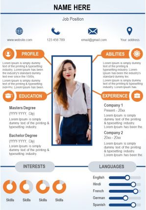 Trendy Resume CV Design Template To Stand Out