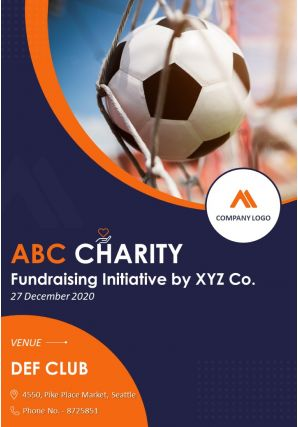 Two Page Charity Event Brochure Template