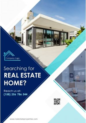 Two Page New Property Marketing Brochure Template