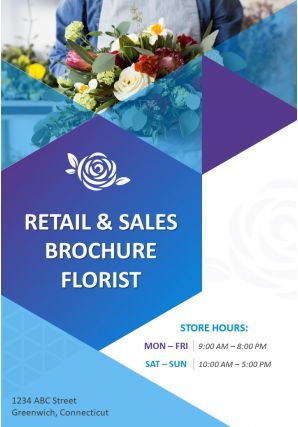 Two Page Retail And Sales Florist Brochure Template