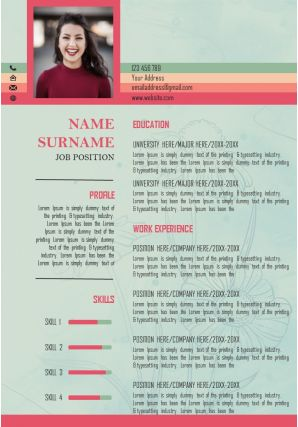 Visual Resume Template CV Layout To Get Noticed